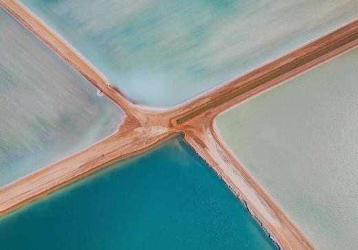 Salt ponds, Shark Bay