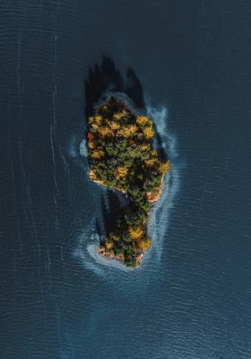 foot shaped island Switzerland