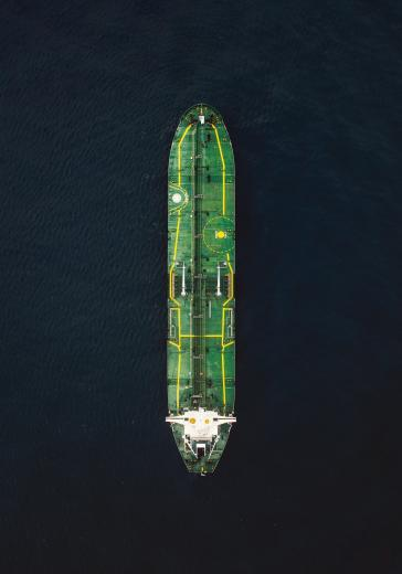 Tanker in Italy shaped like a cucumber