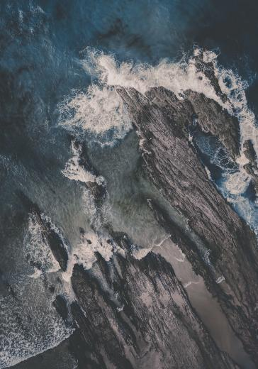 Abstract Aerial Art_On The Rocks