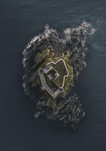 Abstract Aerial Art_The Fortress