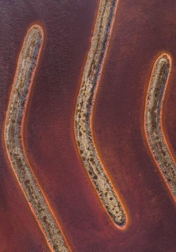 Abstract Aerial Art_Boomerang