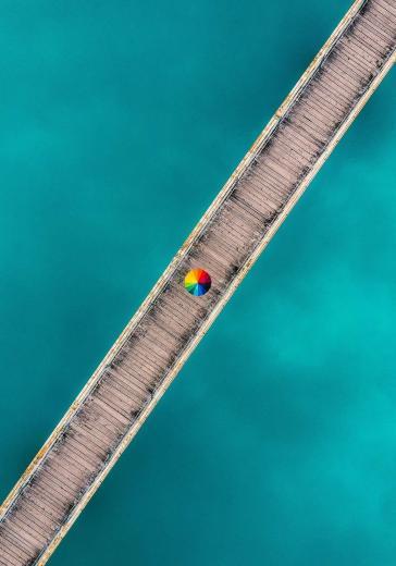 Abstract Aerial Art_Dolomiti Blues