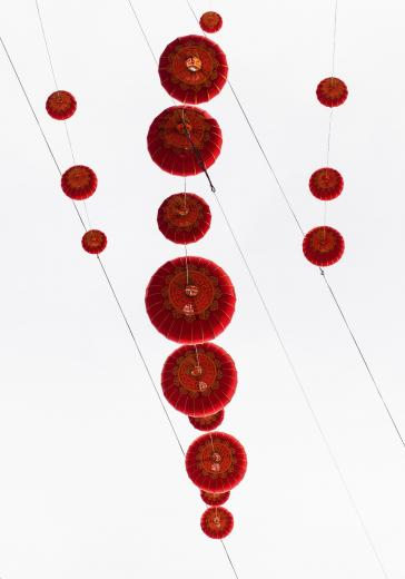 Abstract Aerial Art_Red Lantern