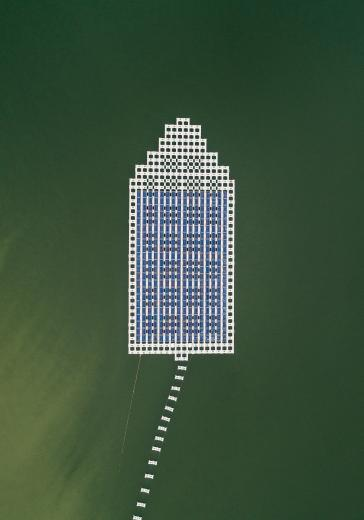 Abstract Aerial Art_Space Invader