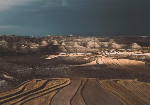 Abstract Aerial Art_Fields of Joy